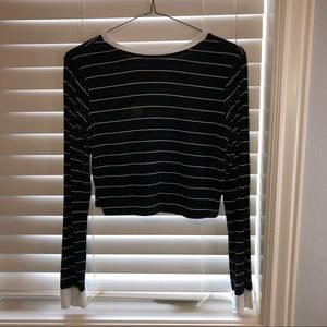 Forever 21 Crop Top Aesthetic Teen Striped E-girl